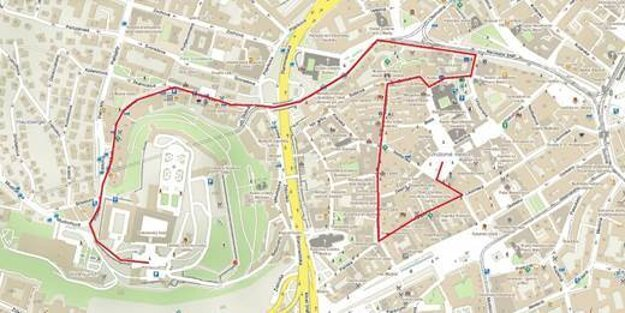 The route of the coronation parade
