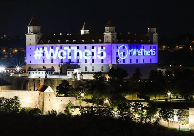 Slovakia joined the #WeThe15 world campaign.