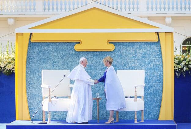 Pope Francis meets President Čaputová on September 13