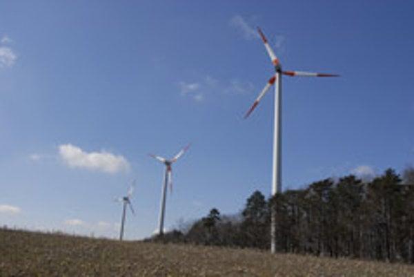 The wind park at Cerová
