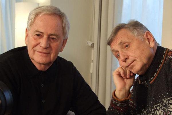 István Szabó (left) with Jiří Menzel.