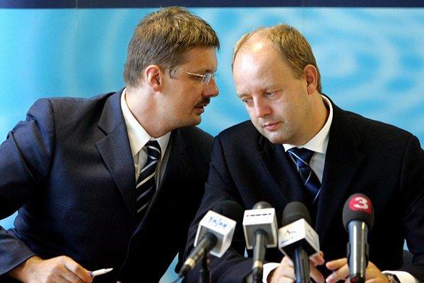 Jirko Malchárek and Pavol Rusko in 2004.