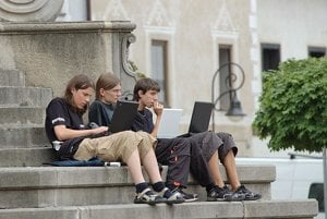 Young people cannot imagine life without the internet or mobiles.