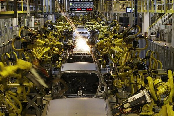Car production is now highly automated.
