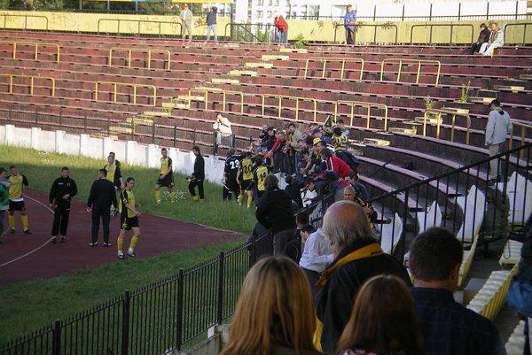 A snapshot from the match Inter Bratislava – KF Košice