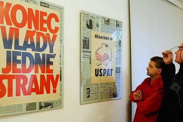 An exhibition of revolutionary documents in Košice.