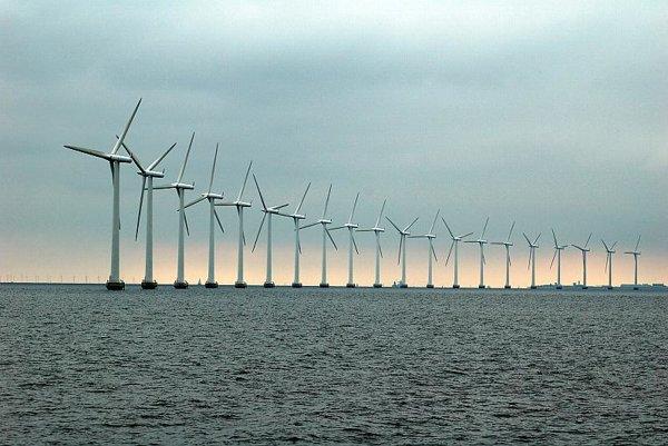 Offshore windfarm near Copenhagen.