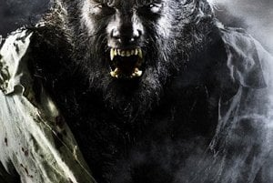 Benicio Del Toro as the Wolfman.