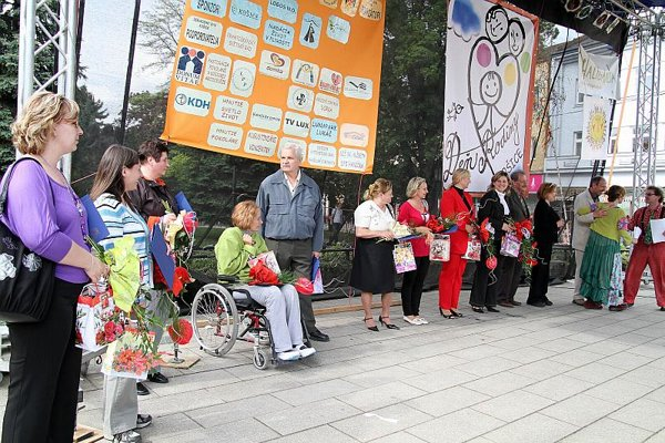 Slovaks celebrate their mothers in Košice.