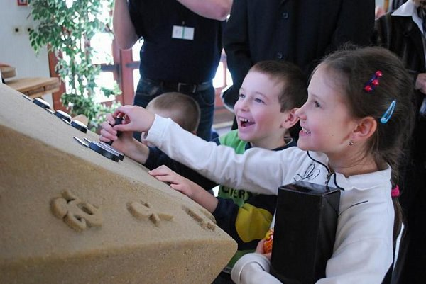 Young Slovaks learn about life in ancient Egypt at the Archaeological Museum.