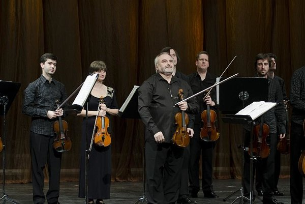 Members of the Slovak Chamber Orchestra led by Ewald Danel (front centre).