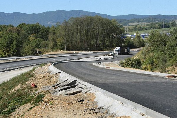 Highway construction continues in Slovakia.