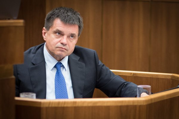 Plavčan at parliamentary session
