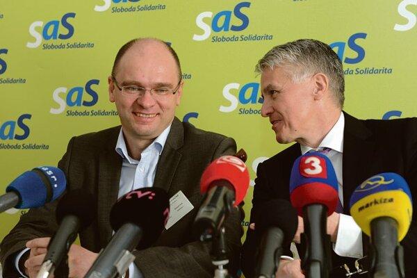 Richard Sulík (l) and Jozef Kollár