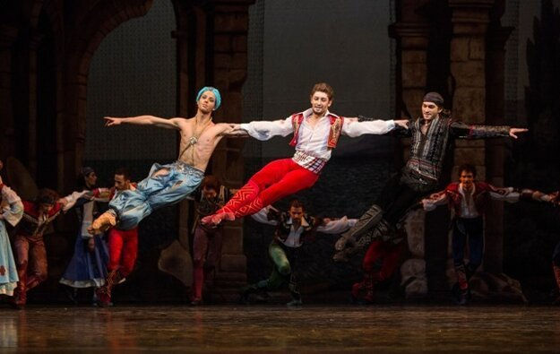 A scene from The Corsaire, a ballet that premiered last season.