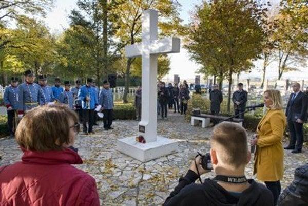 The ceremony commemorating WWI victims, military cemetery Bratislava-Petržalka