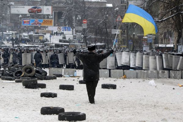 Kiev faces mass protests.
