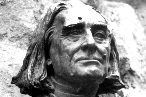 Bust of Franz Liszt, stock photo