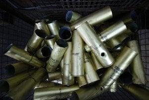 Artillery ammunition, illustrative stock photo