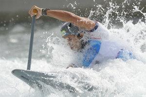 Matej Beňuš in qualificaiton for semi-finals, white-water slalom.