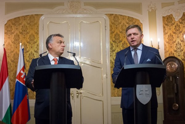 Hungarian PM Orbán with Slovak counterpart, Fico.