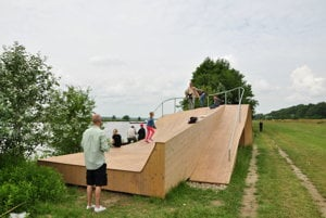 Open house at the observation post on the Danube River.