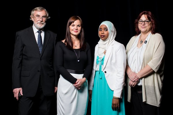 The White Crow 2016 awards go to Khadra Abdile, a 24-year-old Somali refugee who was repeatedly attacked for her belief and skin colour together with Emília Trepáčová, a social worker from Slovak Catholic Charity who helps her with integration.
