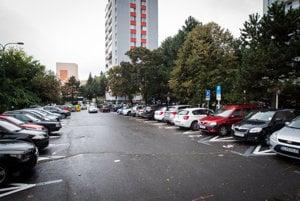 Current parking in Karlova Ves District in Bratislava.