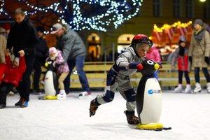 Skating on Primaciálne Square