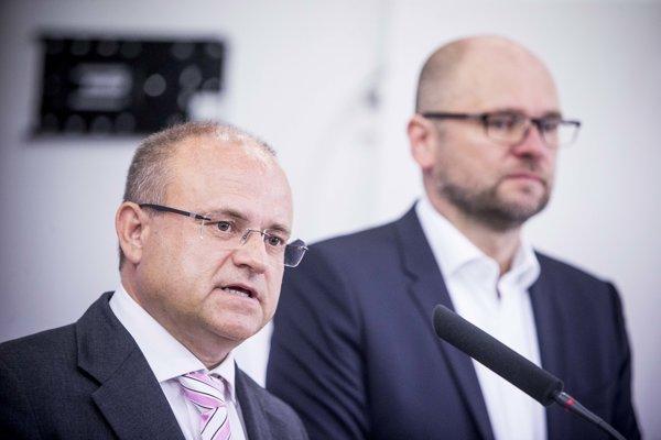 Jozef Mihál (l) and Richard Sulík (r)