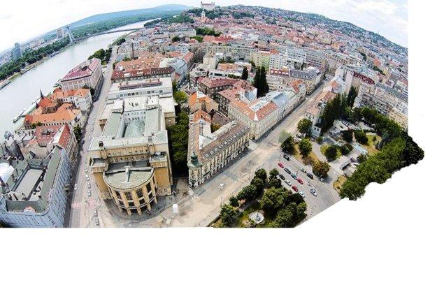 Overal aerial view of the future Šafárikovo Square.