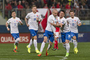 Slovak rejoice after scoring a goal in Malta, March 25.