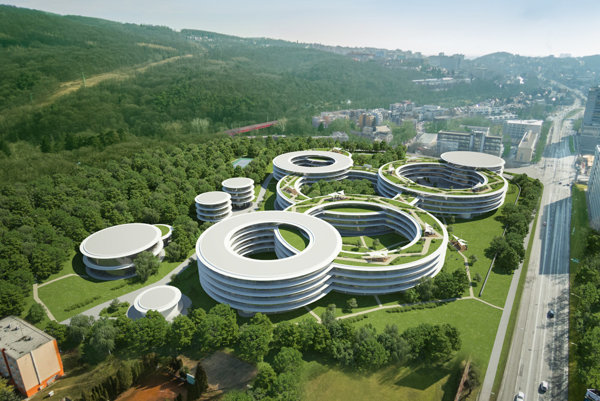 Visualisation of the new R&D Campus of Eset