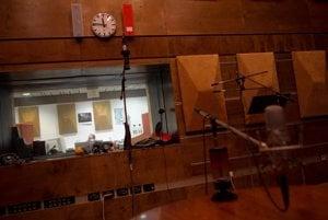 Studio inside the inverted pyramid.
