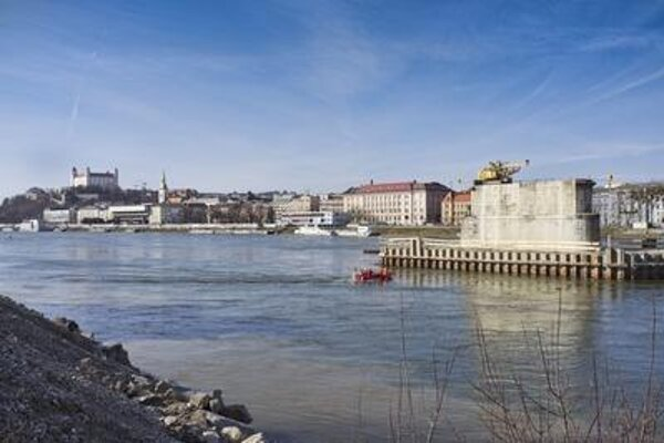 Bratislava Old Bridge by the end of March