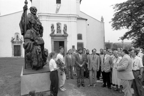 Ss Cyril and Methodius are also celebrated at Devín near Bratislava (archive photo from 1991)
