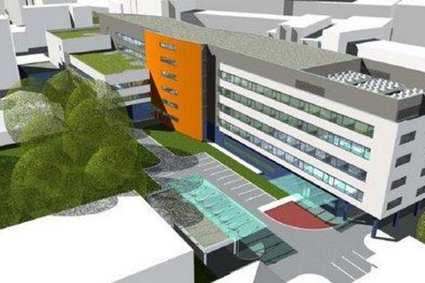 The visualisation of the new hospital.