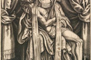 A depiction of Pressburg Pietà