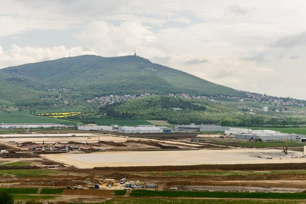 The future plant of Jaguar Land Rover near Nitra