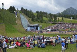 Lúčnica in High Tatras, under ski jumps