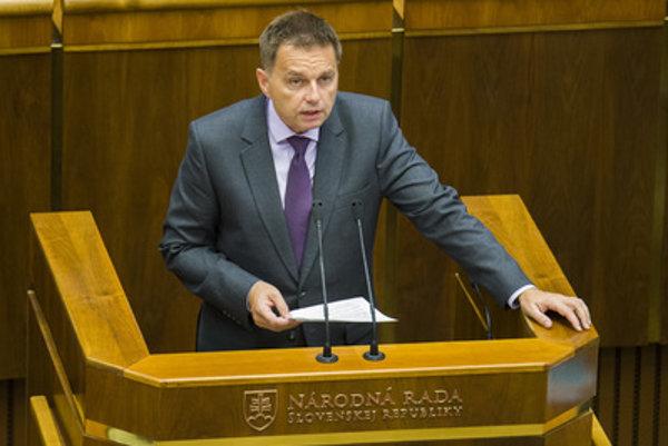 Peter Kažimír in Slovak parliament.