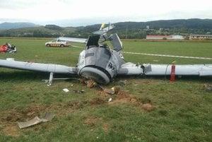 A light passenger plance crashed at Prievidza airport.