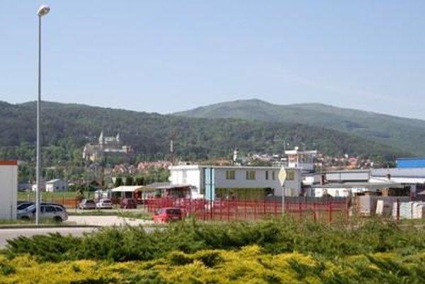 The industrial park in Prievidza overlooks the Bojnice Castle.
