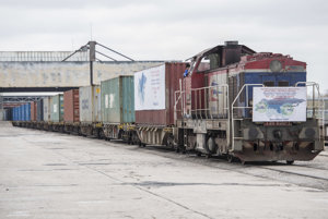 The arrival of the freight train from China to Bratislava.