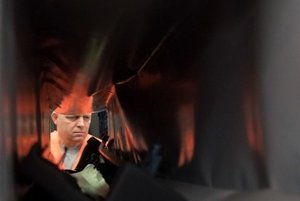 Slovak PM Robert Fico working at night in IAC Group /Slovakia/ in Lozorno, November 25.