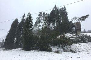 Hurricane caused calamity in Jasná/Chopok on December 10