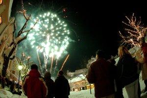 New Year Eve's firework in Trenčín
