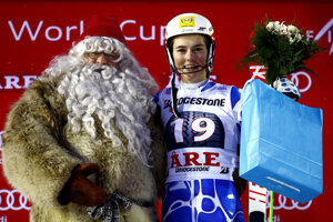 Vlhová with Santa Claus