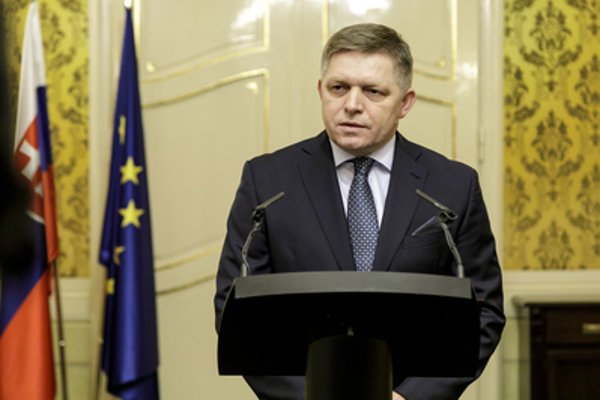 Prime Minister Robert Fico dleivers a speech on the 25th anniversary of Slovakia, January 1, 2018.