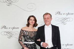 Opera Ball 2018 - invitor of the bal land CEO of Orange Slovensko, Pavol Lančarič with wife